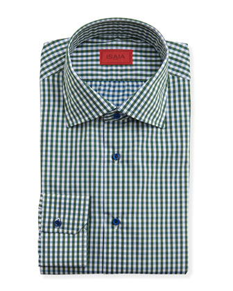 Gingham Dress Shirt, Blue/Green