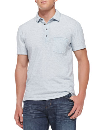 Slub Jersey Polo Shirt, Blue