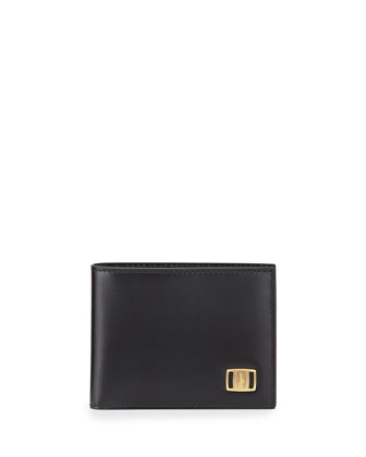 Vara Leather Bi-Fold Wallet, Black