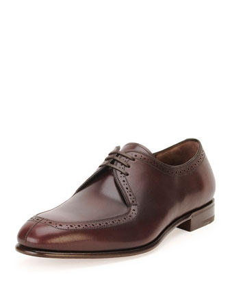 Nikel Lace-Up Oxford, Burgundy