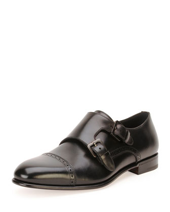 Nold Original Double-Monk Shoe, Black