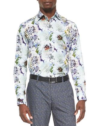 Medallion-Print Suit Jacket, Floral-Print Sport Shirt & ...