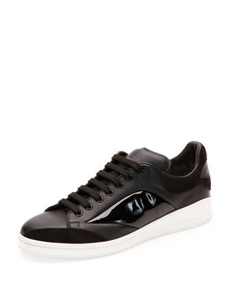 Low-Top Platform Sneaker, Black