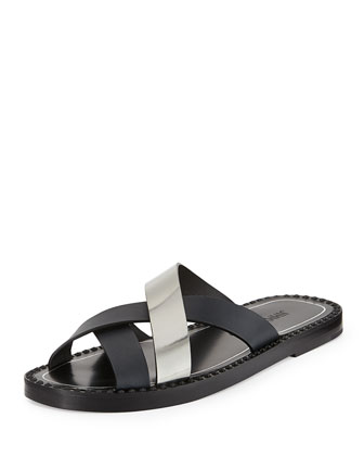 Cross-Strap Sandal, Navy