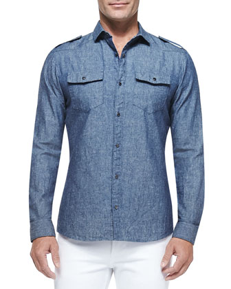 Chambray Two-Pocket Shirt