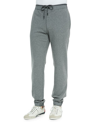 Nylon-Waist Jogger Pants, Gray
