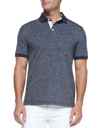 Cotton-Linen Blend Polo