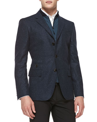 Donegal Jacket W/ Zip Vest, Navy