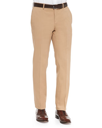 Dressy Cotton-Blend Pants