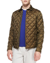 Frederic Diamond Quilted Jacket, Olive