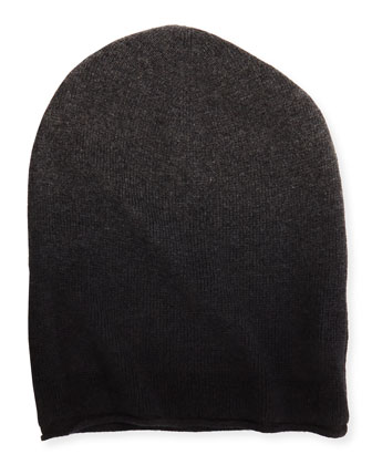 Men's Dip-Dye Beanie, Gray/Black