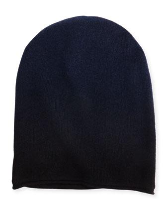 Men's Dip-Dye Beanie, Navy/Black