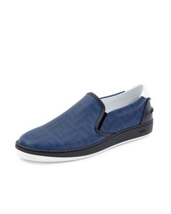 Wimbledon Leather Slip-On, Blue
