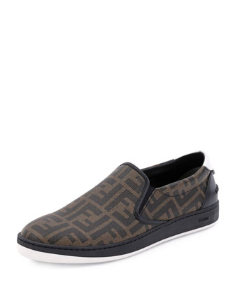 Wimbledon Leather Slip-On, Tobacco