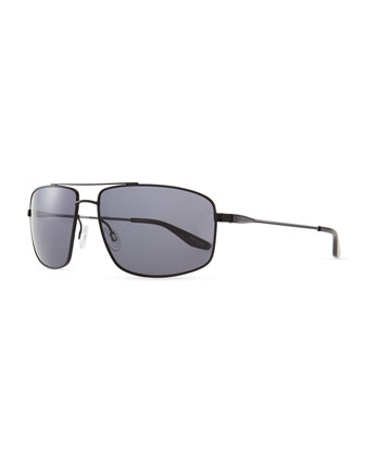 Hockett Aviator Sunglasses, Black