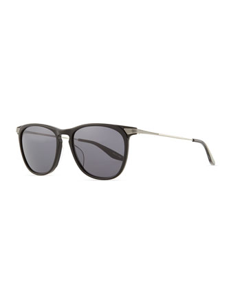 Hakan Square Sunglasses, Black
