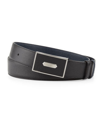 Bourdon Leather Belt, Black