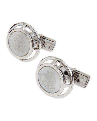 Mother-of-Pearl Wireframe Cuff Links