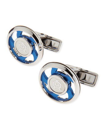 AD Iconic Spin Cuff Links, Blue
