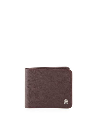 Bourdon Bi-Fold Wallet, Red (Oxblood)
