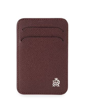 Bourdon Leather Card Case, Burgundy Red