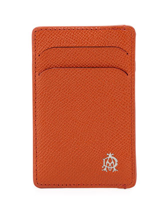 Bourdon Leather Card Case, Orange