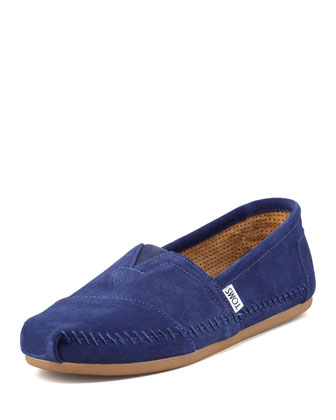 Suede Sitka Moccasin Slip-On, Navy