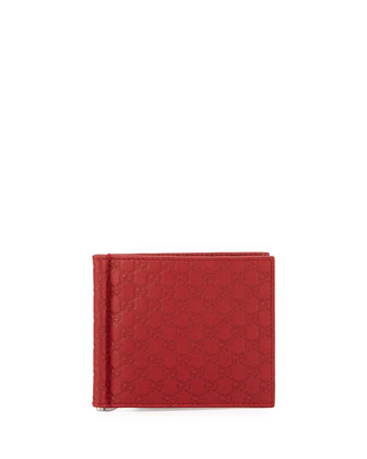 Guccissima Money Clip Wallet