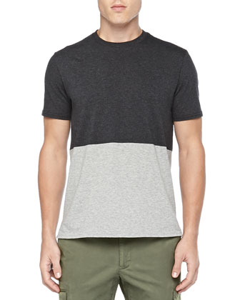 Colorblock Jersey Tee & Mercer Cargo Pants