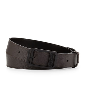 PVD Diamond-Detail Belt, Black