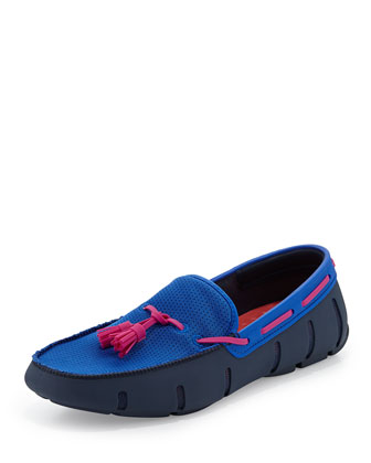 Tassel Water-Resistant Loafer, Royal/Pink