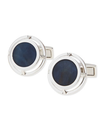 Sapphire Wire-Frame Cuff Links