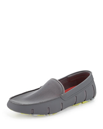 Camo-Bottom Water-Resistant Loafer, Gray