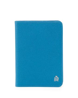 Bourdon Leather Passport Holder, Turquoise