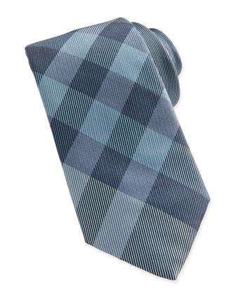 Check Woven Tie, Green