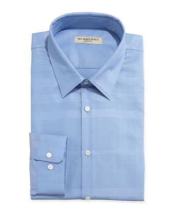 Tonal Check Shirt, Medium Blue