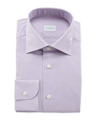 Pencil-Stripe Dress Shirt, Lilac