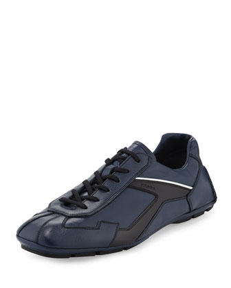 Monte Carlo Leather Sneaker, Navy/Black