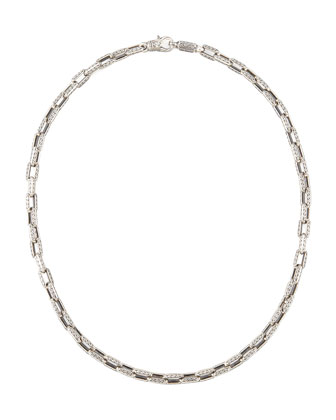 Sterling Silver Square-Link Chain Necklace