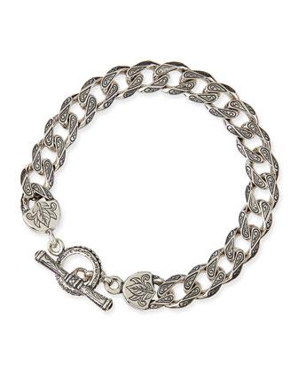 Men's Sterling Silver Flat Link Bracelet