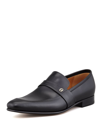 Faramir Leather Loafer, Black