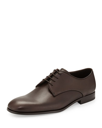 Stamped Leather Derby Shoe