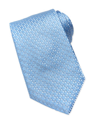 Textured Disc-Neat Tie, Light Blue