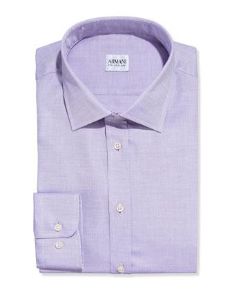 Textured Solid Dress Shirt, Light Purple