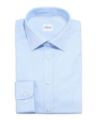 Textured Dress Shirt, Blue