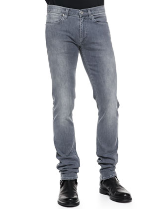 Max Melrose Washed Jeans, Medium Gray