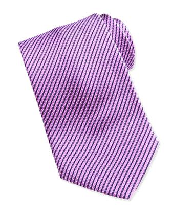 Printed Micro-Neat Silk Tie, Purple