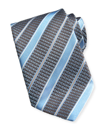 Satin Striped Tie, Lt. Blue