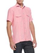 Mini D Laurent Sport Shirt, Medium Pink