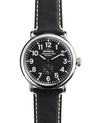 41mm Runwell Men's Watch, Black/Black